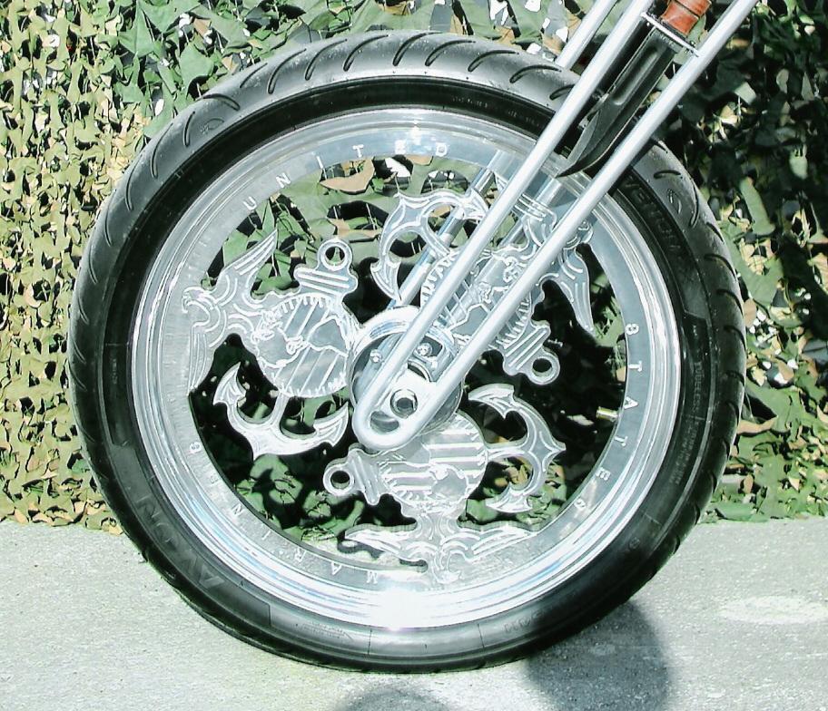 for the bike build off in Oklahoma, June 2006. We make custom themed rims.